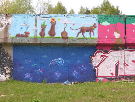 Ласнамяэские граффити. Фото Виталия Фактулина.