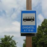 Автобусная остановка Dvigatel. Фото Виталия Фактулина.