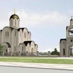 Эскиз православной церкви в Ласнамяэ.
