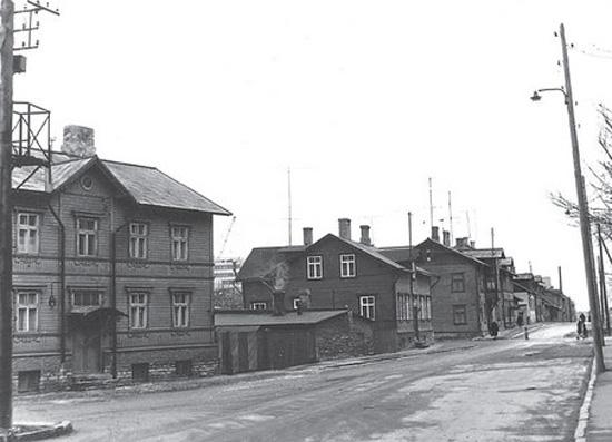 Так выглядела улица в Сикупилли еще в середине 1960-х годов.  Фото: Эстонский исторический музей.