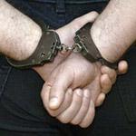 Полиция задержала хулигана и отвезла его в отделение