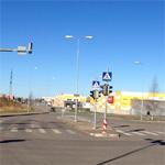 Перекресток улиц Пунане и Мустакиви в Ласнамяэ.