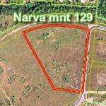 Фрагмент аэрофотоснимка 2007 года, показывающего местоположение участка Narva mnt 129 в Таллине. Источник фотографии:  http://ikodu.com .